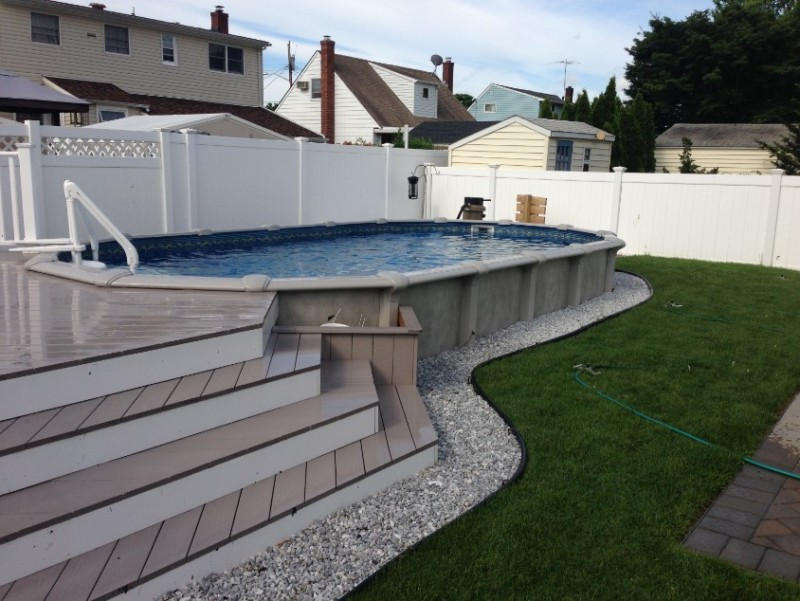 agp02 - Above Ground Pool Deck Off House