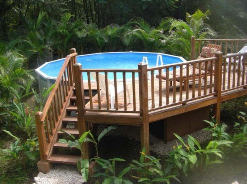 above ground pool deck plans oval decks designs swimming kit reviews