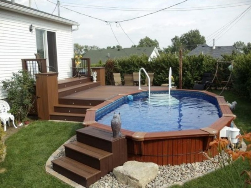 Above Ground Pool Landscaping Ideas - Pool and Landscape